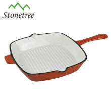 Commerical Double Spouts Square Cast Iron Grill Pan